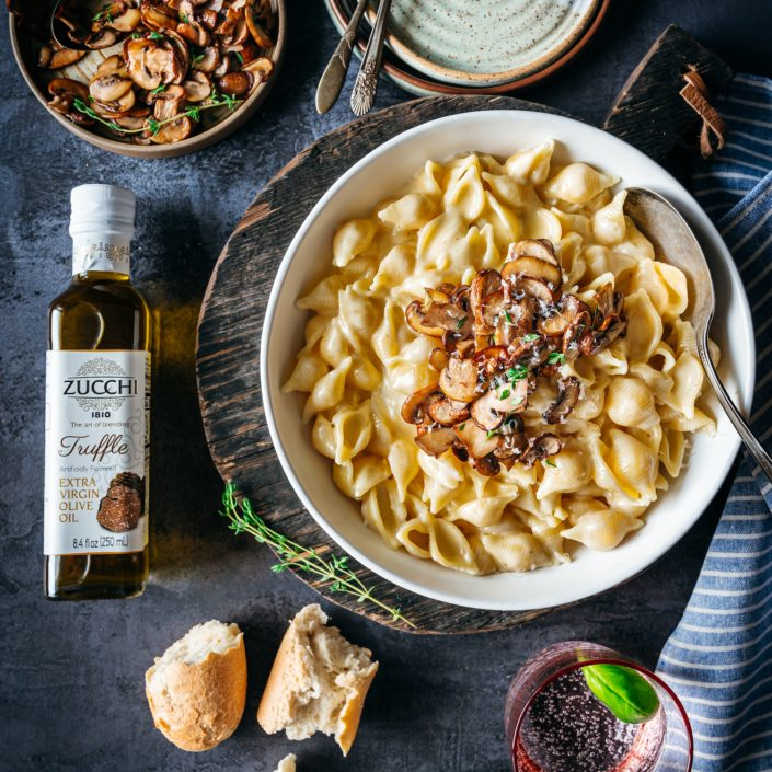 Truffle Mac and Cheese - Zucchi Truffle Extra Virgin Olive Oil