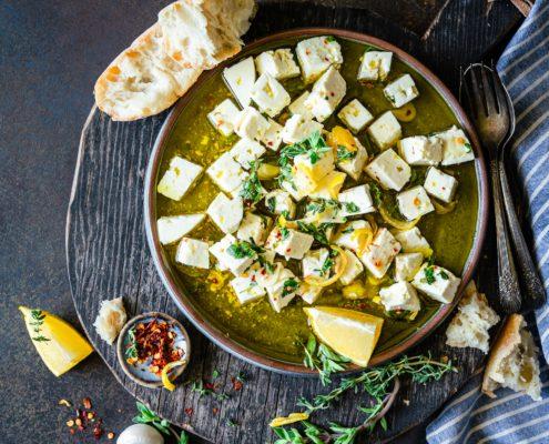Garlic & Herb Marinated Feta - Zucchi Olive Oil