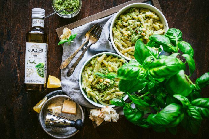 Broccoli Pesto Pasta - Zucchi Pesto Olive Oil